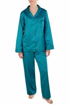 Miss Elaine Satin Dobby Pajama Set