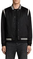 Allsaints Allsaints Matsu Varsity Bomber Jacket, Black/white