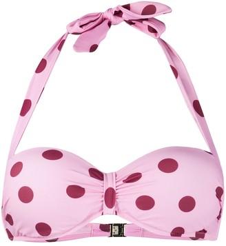 Dolce & Gabbana Polka-Dot Halter Neck Bikini Top