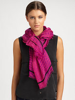 Marc by Marc Jacobs Croc Print Modal Scarf