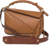 Loewe Puzzled laced leather shoulder bag