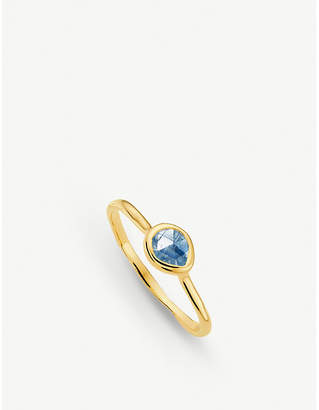 Monica Vinader Siren 18ct gold vermeil and kyanite small stacking ring