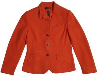 Lauren Ralph Lauren Orange Wool Jacket for Women