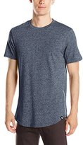 Southpole Men's Short Sleeve Basic Scallop Tee with Side Zipper Details