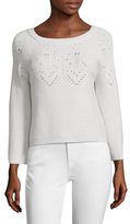 Autumn Cashmere Pointelle Boxy Cropped Sweater