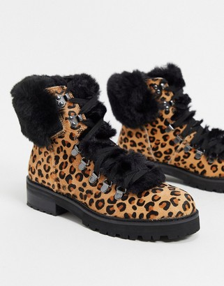 Aldo faux fur ankle boots in leopard