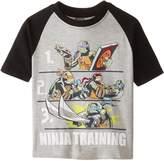 Nickelodeon Teenage Mutant Ninja Turtles Little Boys' Short Sleeve Raglan T-Shirt Shirt