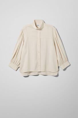 Weekday Mia Shirt - Beige