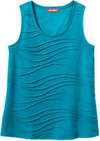 Joe Fresh Women's Wavy Tank, Teal (Size XL)