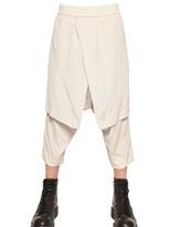 Julius Peach Cotton Cupro & Silk Blend Trousers