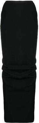 Rick Owens Ruched Maxi Skirt