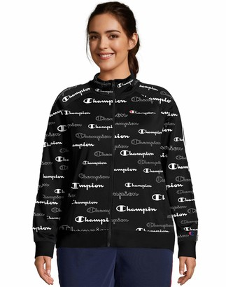 Champion Women's Plus Track Jacket-Print