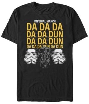 Star Wars Men's Classic Empire Helmets Imperial March Short Sleeve T-Shirt