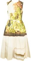 Simone Rocha Appliquéd printed cotton-blend twill midi dress