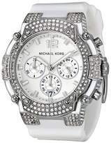 Michael Kors Women's Gemma MK5509 White Silicone Quartz Watch with Dial