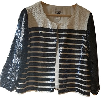 Edward Achour Navy Glitter Jacket for Women