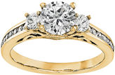 MODERN BRIDE 1 1/5 CT. T.W. Diamond 14K Yellow Gold 3-Stone Engagement Ring