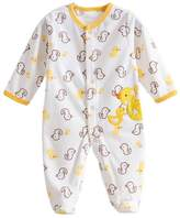 Happy Cherry Baby Footie Romper Newborn Pajamas Sleep & Play Outfit Jumpsuit Fleece Bodysuit Snug Fit Sleepwear Snap Up Winter Layette Coveralls