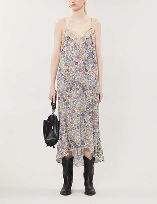 Zadig & Voltaire Revel graphic-print woven maxi dress