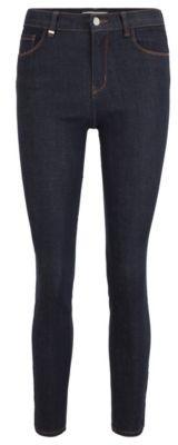 HUGO BOSS Skinny-fit jeans in deep-blue super-stretch denim