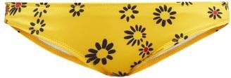 Solid & Striped The Elle Daisy-print Bikini Briefs - Womens - Yellow Print