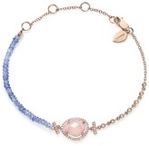 Meira T 14K Rose Gold Tanzanite Bead, Diamond and Pink Opal Bracelet