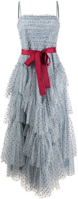 RED Valentino Glitter Tiered Tulle Dress