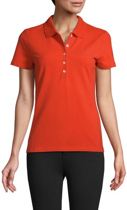 Tommy Hilfiger Short-Sleeve Stretch-Cotton Polo