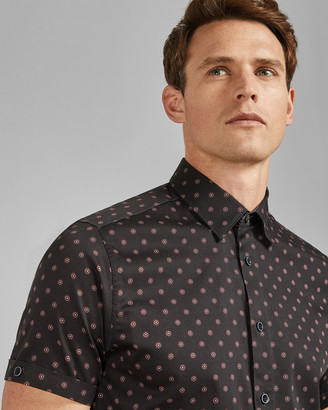 Ted Baker Geo Print Cotton Shirt