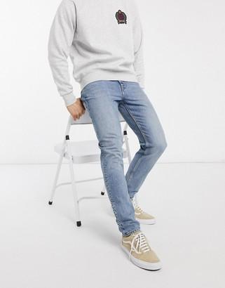 Weekday Cone slim tapered jeans in pop blue