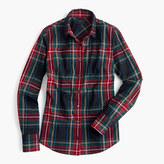 J.Crew Petite perfect shirt in Stewart plaid