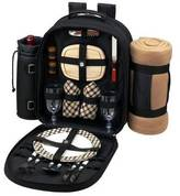 Picnic at Ascot Deluxe Equipped 2 Person Picnic Backpack w/Blanket
