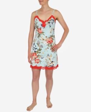 Sesoire Lace-Trim Floral Print Nightgown