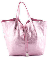 Tiffany & Co. Tiffany&Co Searose Leather Suede Silver Tone Reversible Tote Handbag BC11701 MHL