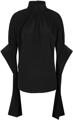 J.W.Anderson Black draped high-neck top