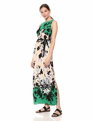 Gabby Skye Women's Floral Print Maxi Dress