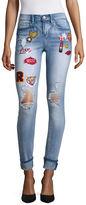 INDIGO REIN Indigo Rein Patched Destructed Jeans