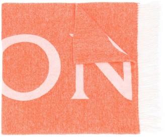 Moncler Logo-Print Scarf