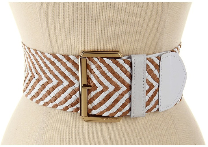 Vince Camuto 2 3/4 Buckle On Woven Goat Panel Women' Belt