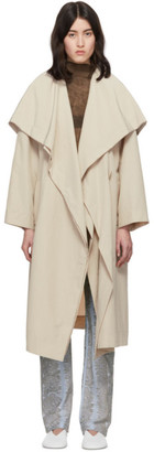 Issey Miyake Beige Draw Long Sleeve Coat