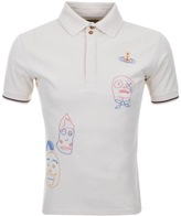 Vivienne Westwood Embroidery Polo T Shirt Cream