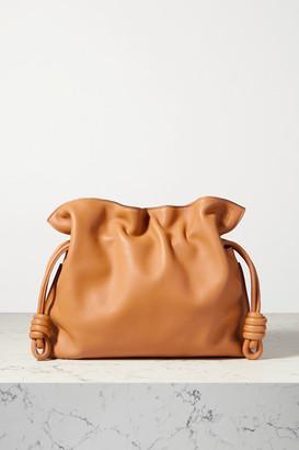 Loewe Flamenco Leather Clutch - Camel