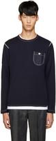 Junya Watanabe Navy Honeycomb Knit T-Shirt