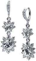 Givenchy Floral Crystal Drop Earrings