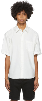 Ami Alexandre Mattiussi White Summer Fit Short Sleeve Shirt