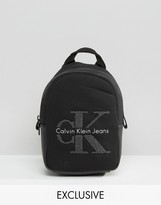 Calvin Klein Exclusive Re-Issue Mini Backpack With Gray Shearling