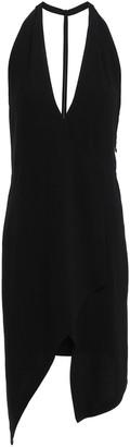 IRO Ekioti Asymmetric Open-back Crepe Mini Dress