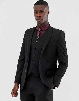 Asos Design DESIGN slim suit jacket in black