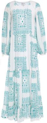 Antik Batik Nalii Gathered Printed Cotton-broadcloth Maxi Dress