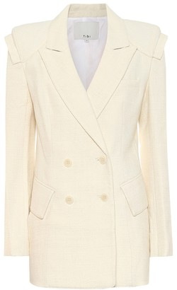 Tibi Wool and cotton-blend blazer